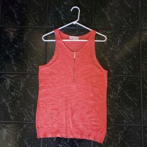 Michael Kors Orange Zip Sweater Tee